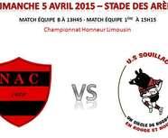 Dimanche 5 Avril, au stade des Arènes, le NAVES AC reçoit l'US SOUILLAC, pour le dernier match de la saison.